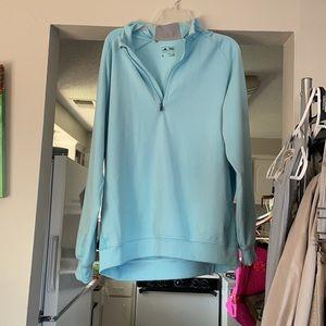 Large blue adidas quarter track jacket
